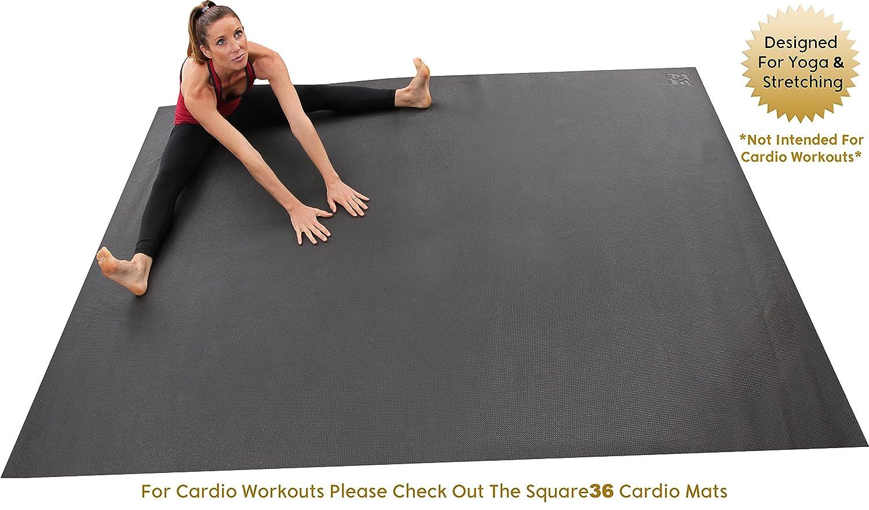 Amazon Com Square36 Large Yoga Mat 8 Ft X X72 Premium Big Yoga Mat Designed For Barefoot Home Yoga Meditation Pilates Rehabilitation