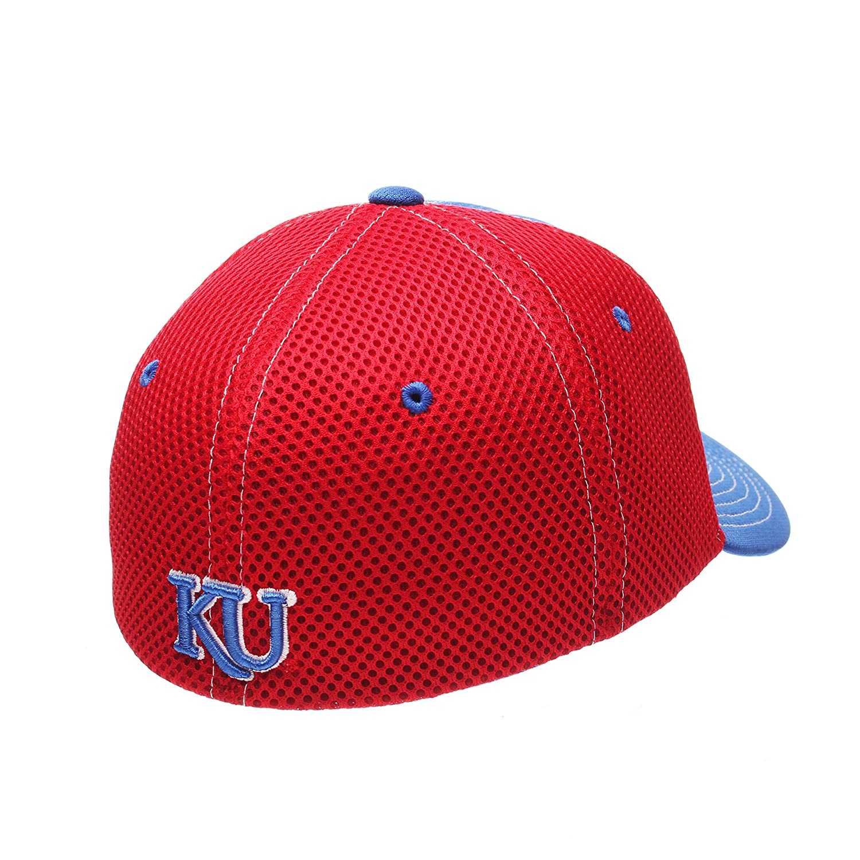 Zephyr NCAA Kansas Jayhawks Mens Rally Z-Fit Cap X-Large Royal//Red