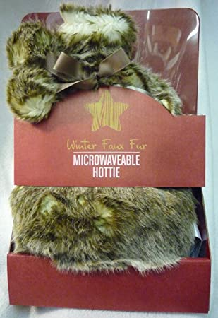Piel sintética de invierno se calienta en microondas calentador de ...