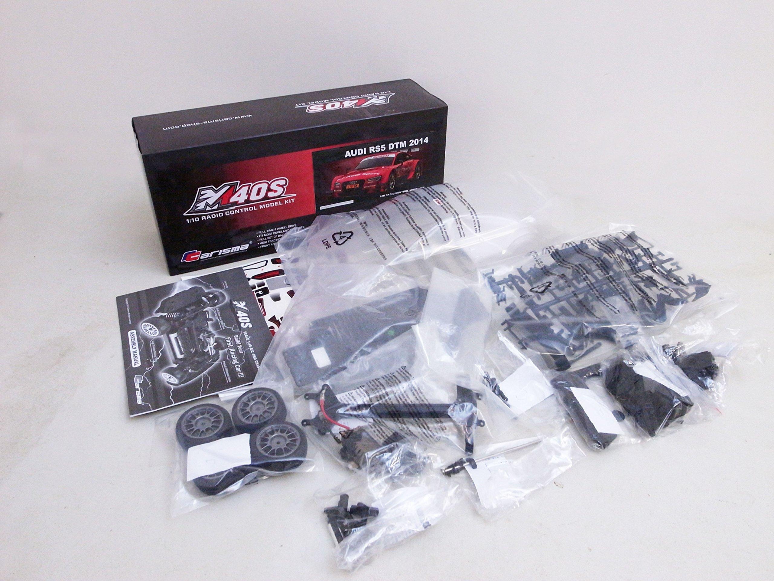 Carisma 76368 M40S Audi Rs5 DTM Car Kit, 1/10 Scale, 4WD