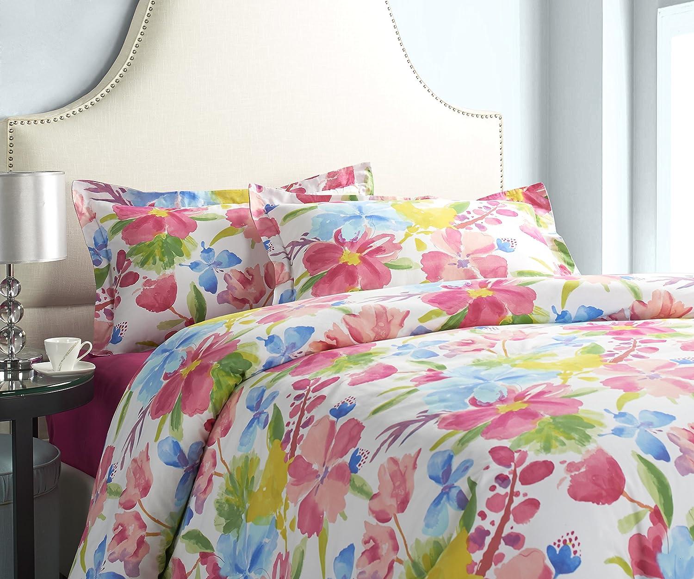 Vivid Floral 28103-3-853854 Jennifer Taylor Home Queen 3-Piece Duvet Set