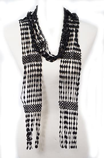 Solid Color Summer Skinny Scarf Lace Scarf Crochet Skinny Scarf