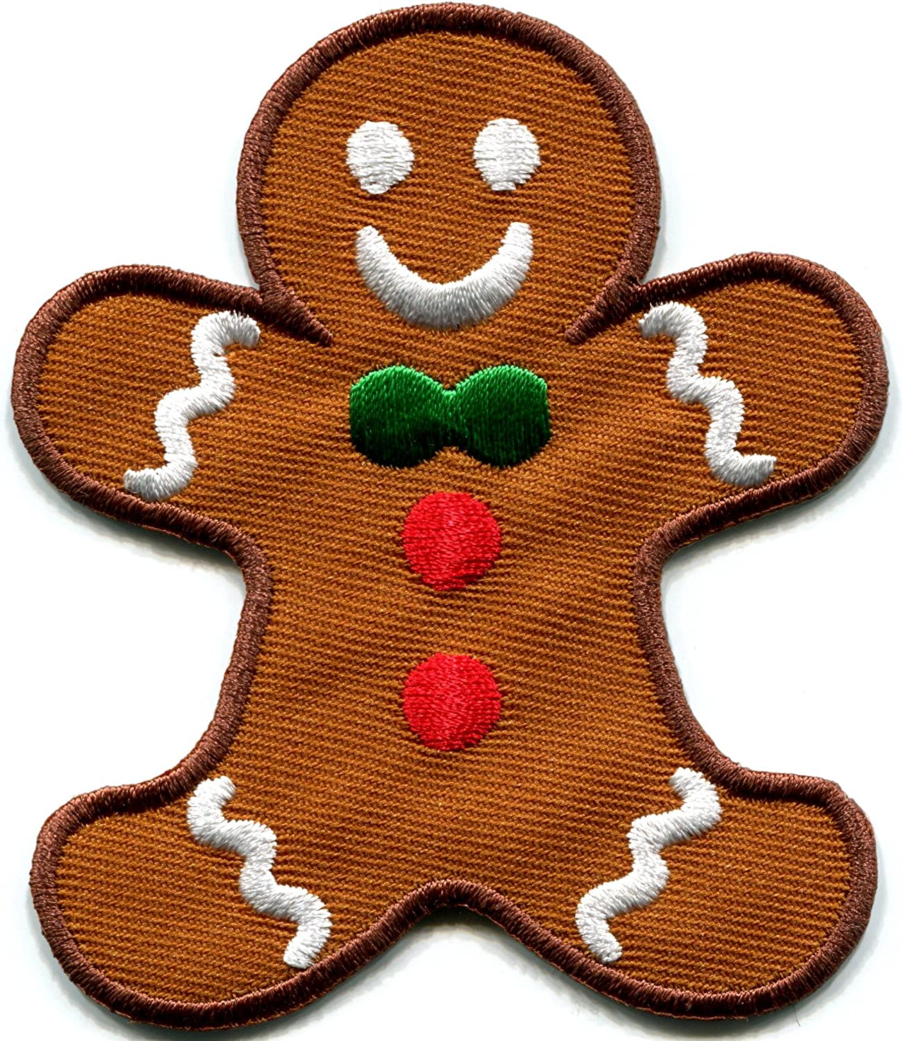 Gingerbread Man Cookie Kids Fun Holiday Sweets buscuit Christmas Embroidered Applique Iron-on Patch S-239