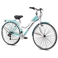 Tour de Cura 700C de la Mujer Bicicleta híbrida, Azul, 43,8cm/Talla única
