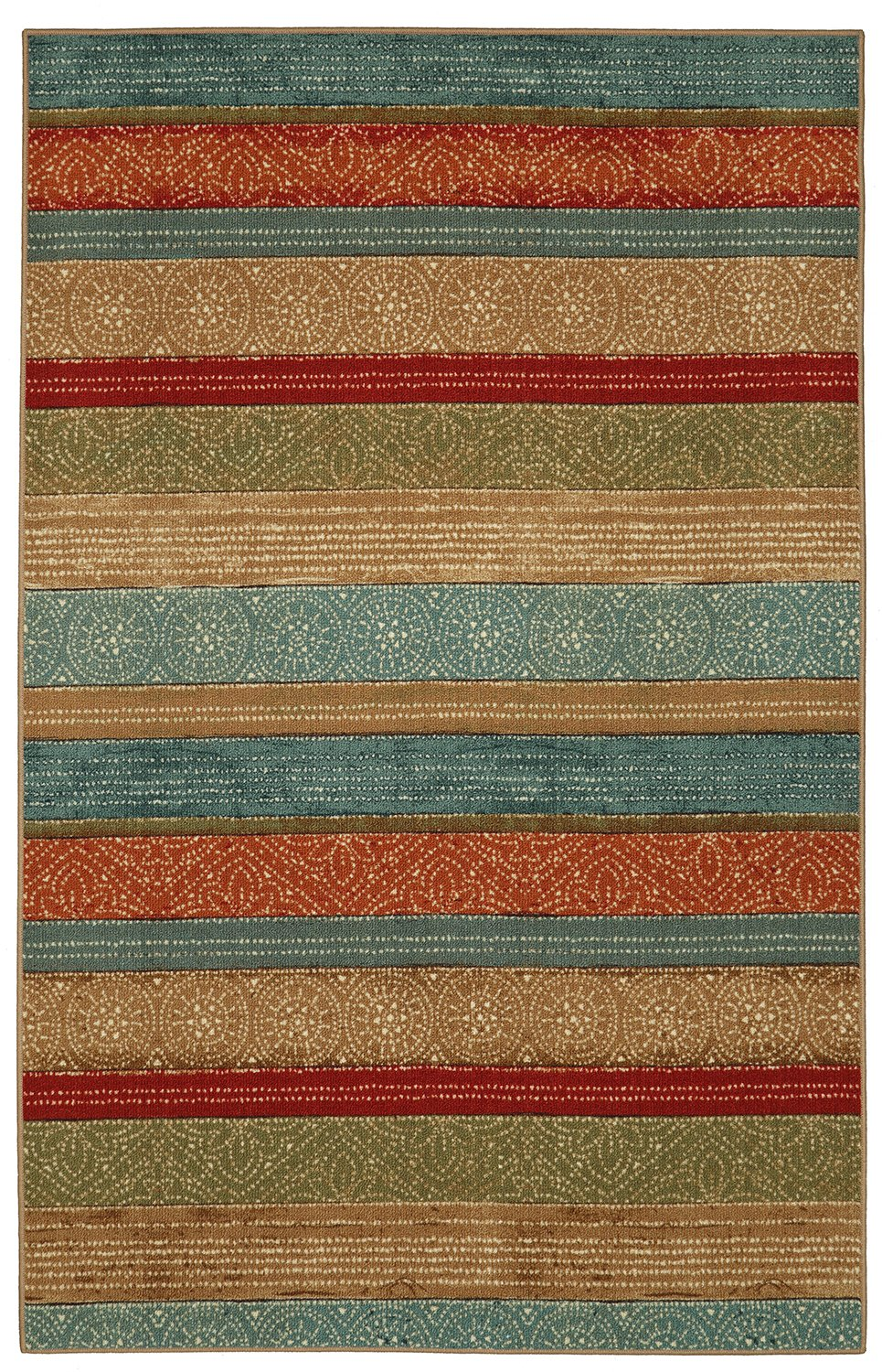 Amazon.com: Mohawk Home Soho Samsun Batik Striped Multicolor Printed Area  Rug, 7u00276x10u0027, Multicolor: Kitchen U0026 Dining