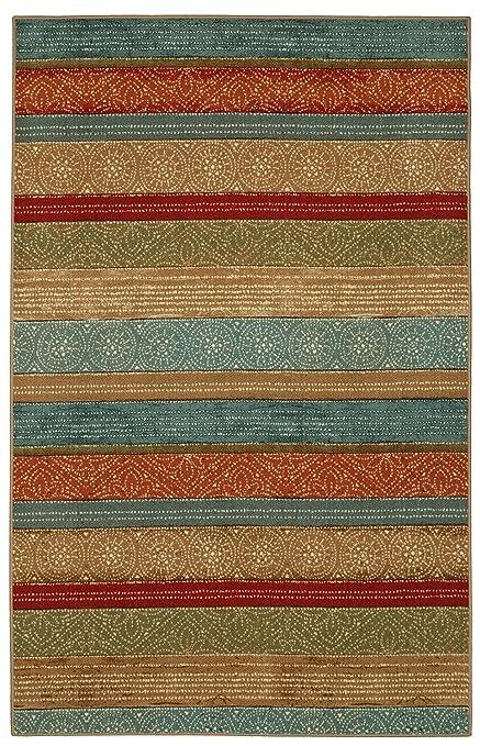 Amazon.com  Mohawk Home Soho Samsun Batik Stripe Area Rug 2a65807b87