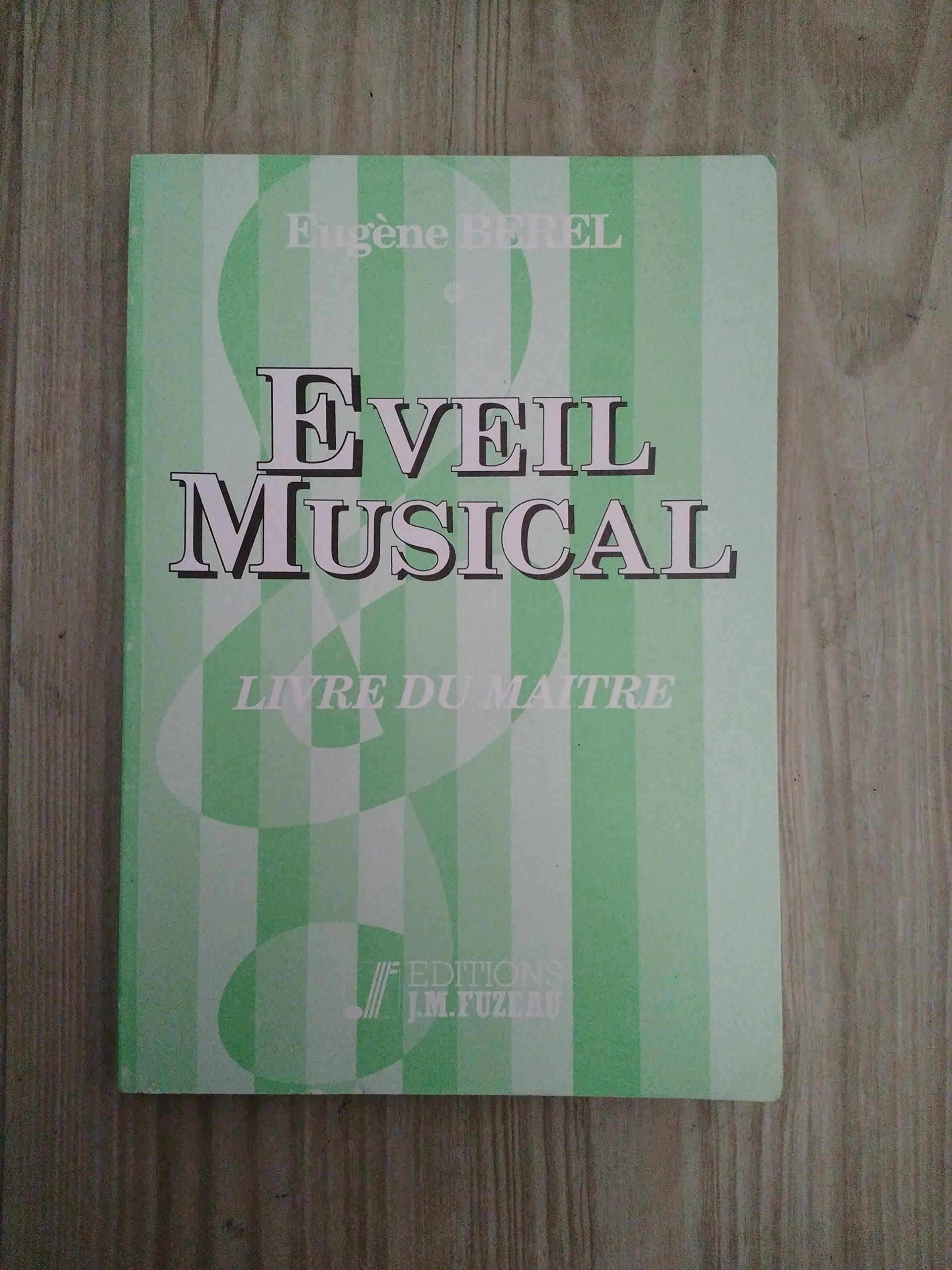 Eveil Musical Livre Du Maitre E Berel 9782905217004