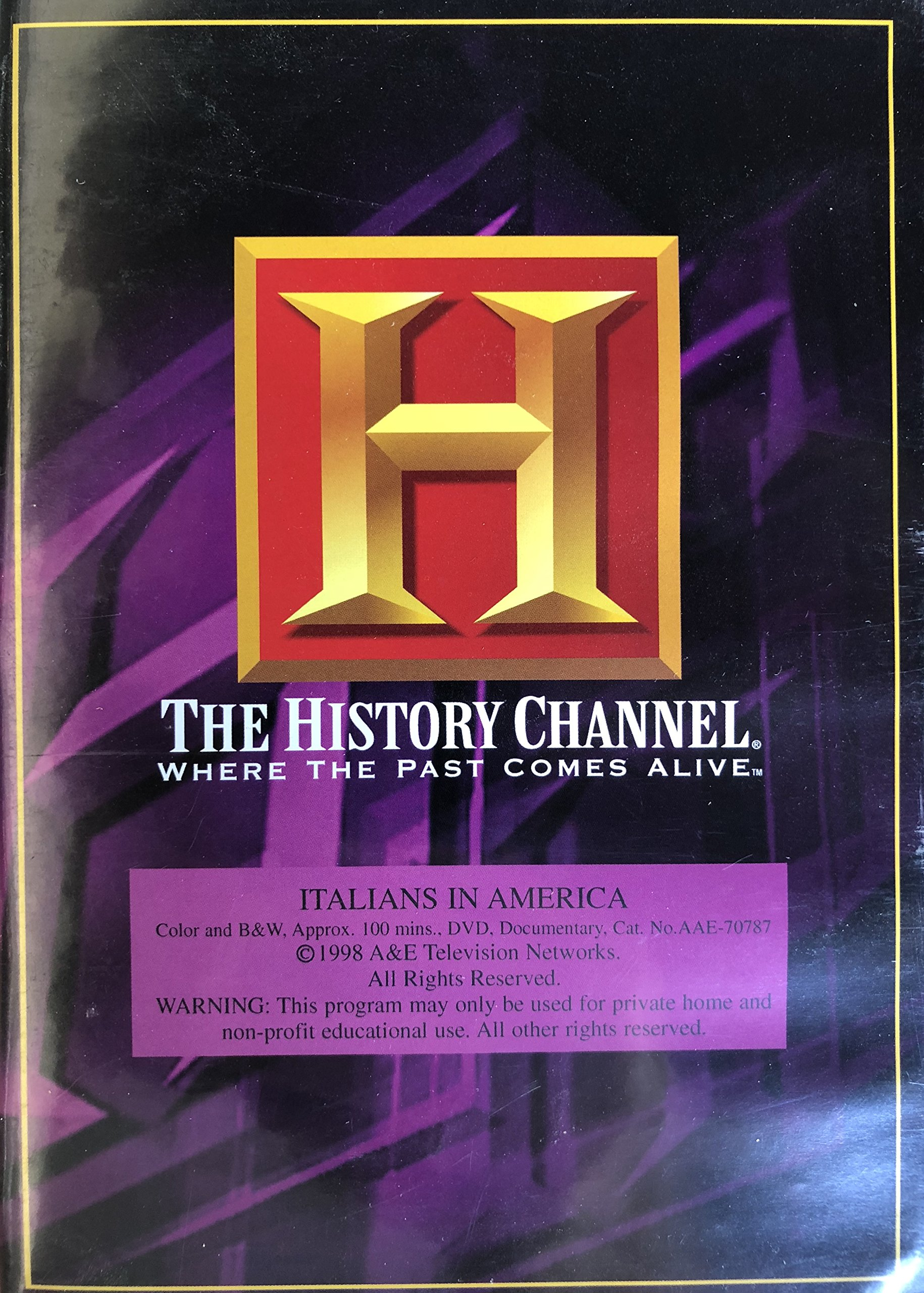 Italians in America:  The Journey Home (History Channel) (A&E DVD Archives)