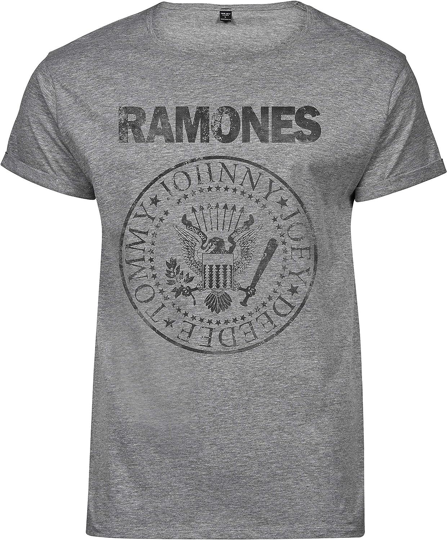 Premium Camiseta T-Shirt Roll-Up Hombre Ramones Grunge Black Print - T-shirtLaMAGLIERIA: Amazon.es: Ropa y accesorios