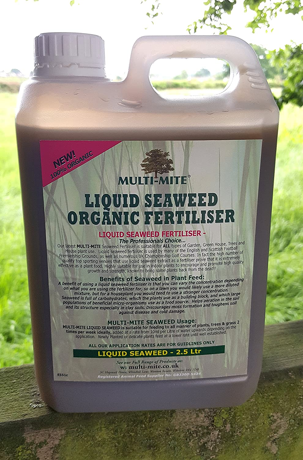 2.5 Ltr LIQUID SEAWEED FREE DELIVERY - Organic Concentrate - Multi-Mite®