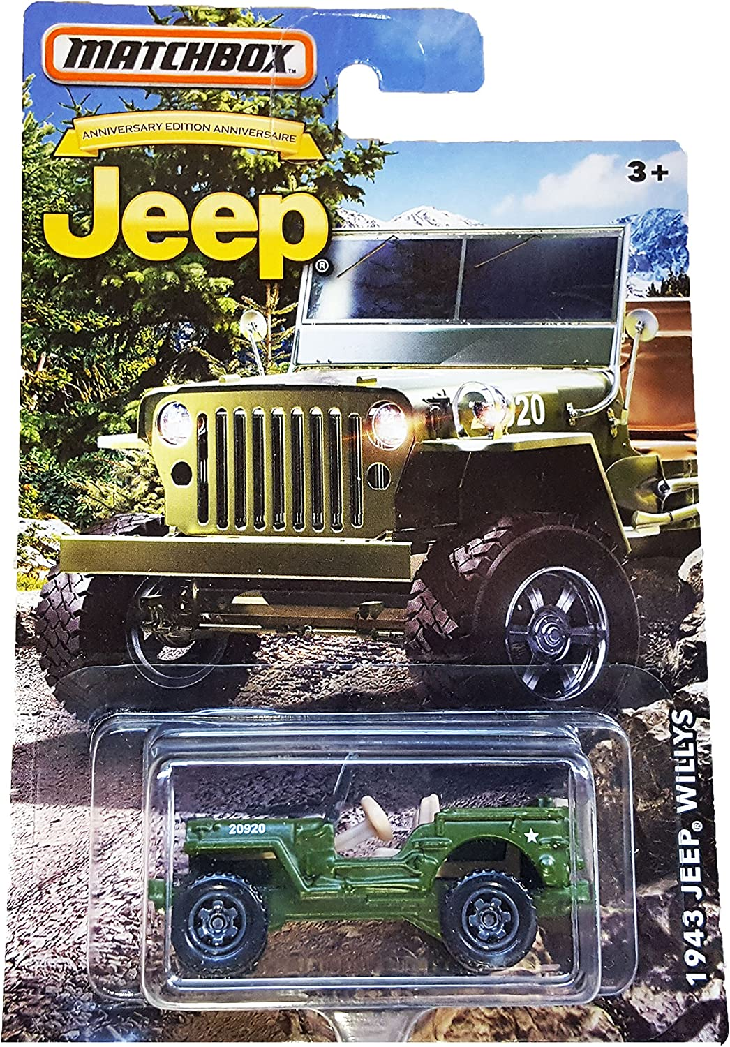 MATCHBOX LIMITED EDITION JEEP ANNIVERSARY EDITION GREEN 1943 JEEP WILLYS DIE-CAST by Matchbox: Amazon.es: Juguetes y juegos