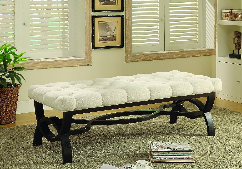 Peachy Amazon Com Coaster 500022 Home Furnishings Bench Beige Lamtechconsult Wood Chair Design Ideas Lamtechconsultcom