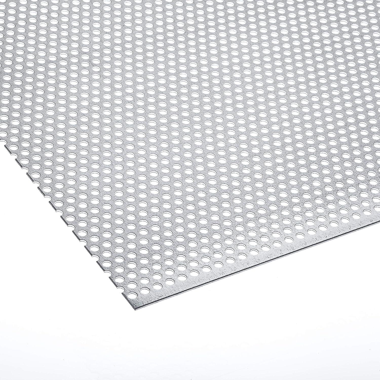 Lochblech Verzinkt RV 5-8 Stahl Verzink 1,0 mm Zuschnitt individuell auf Ma/ß NEU g/ünstig 500 mm x 125 mm