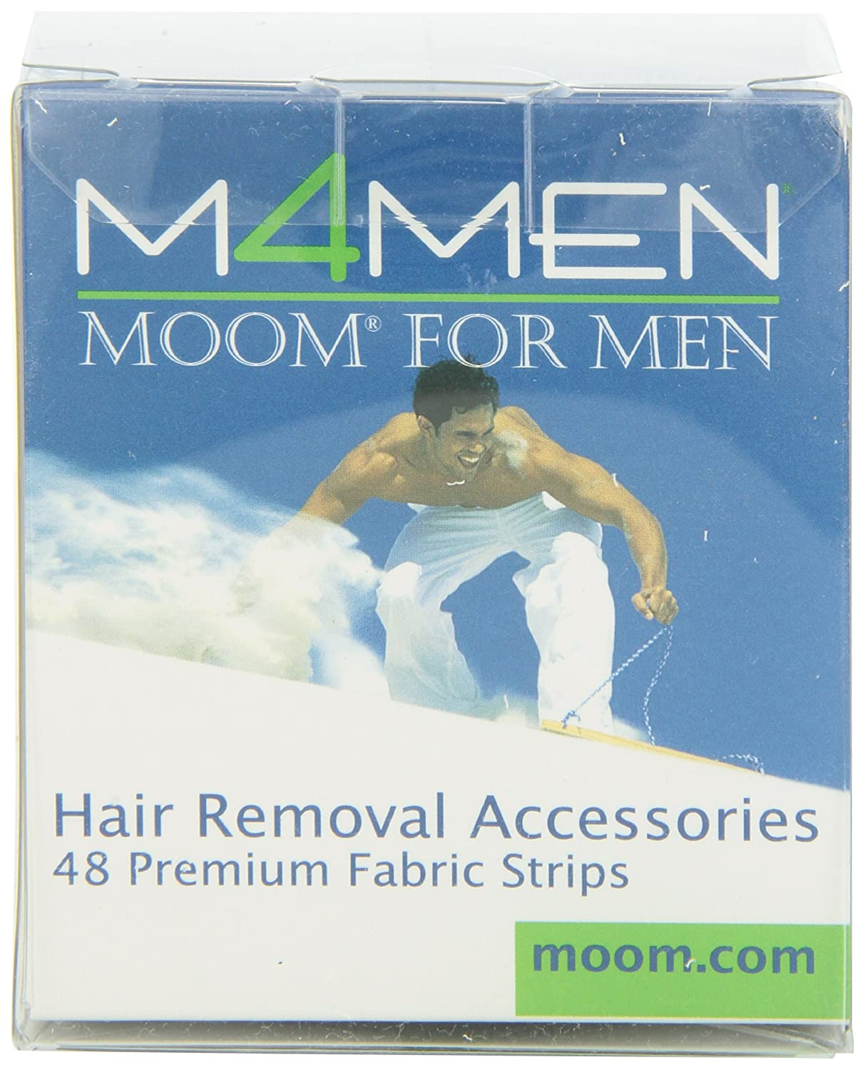 Moom For Men Fabric Strips 48-Count Boxes (Pack of 2)