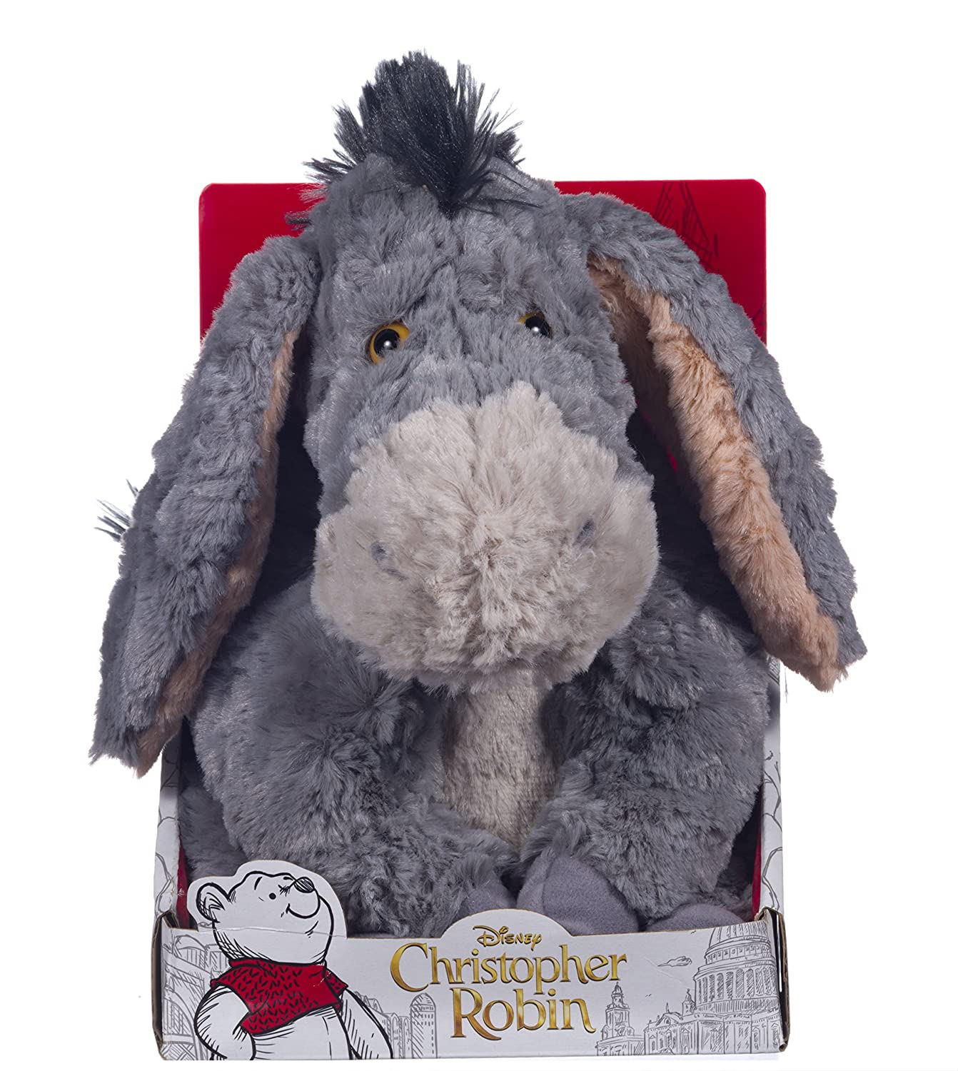 Disney Christopher Robin Collection Winnie the Pooh Eeyore Soft Toy - 7inch/18cm Posh Paws