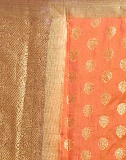 Women's Banarasi Art Silk Saree with Un-Stiched Blouse Piece