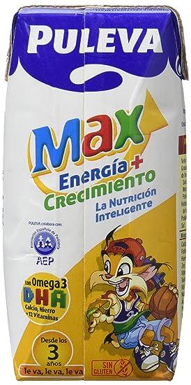 Puleva Max Energía y Crecimiento - Paquete de 8 x 600 ml - Total: 4800