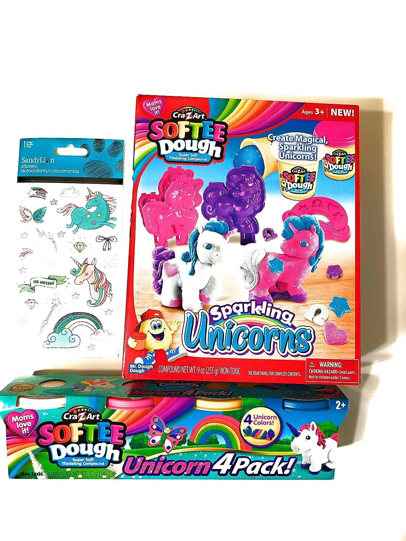 Unicorn Softee Playdoh Set and Sparkle Unicorn Refill