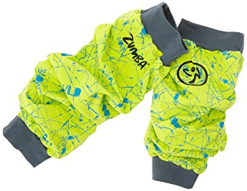 Zumba Fitness® Lets Toast Love Me Lime - Calentadores para mujer, multicolor verde Love