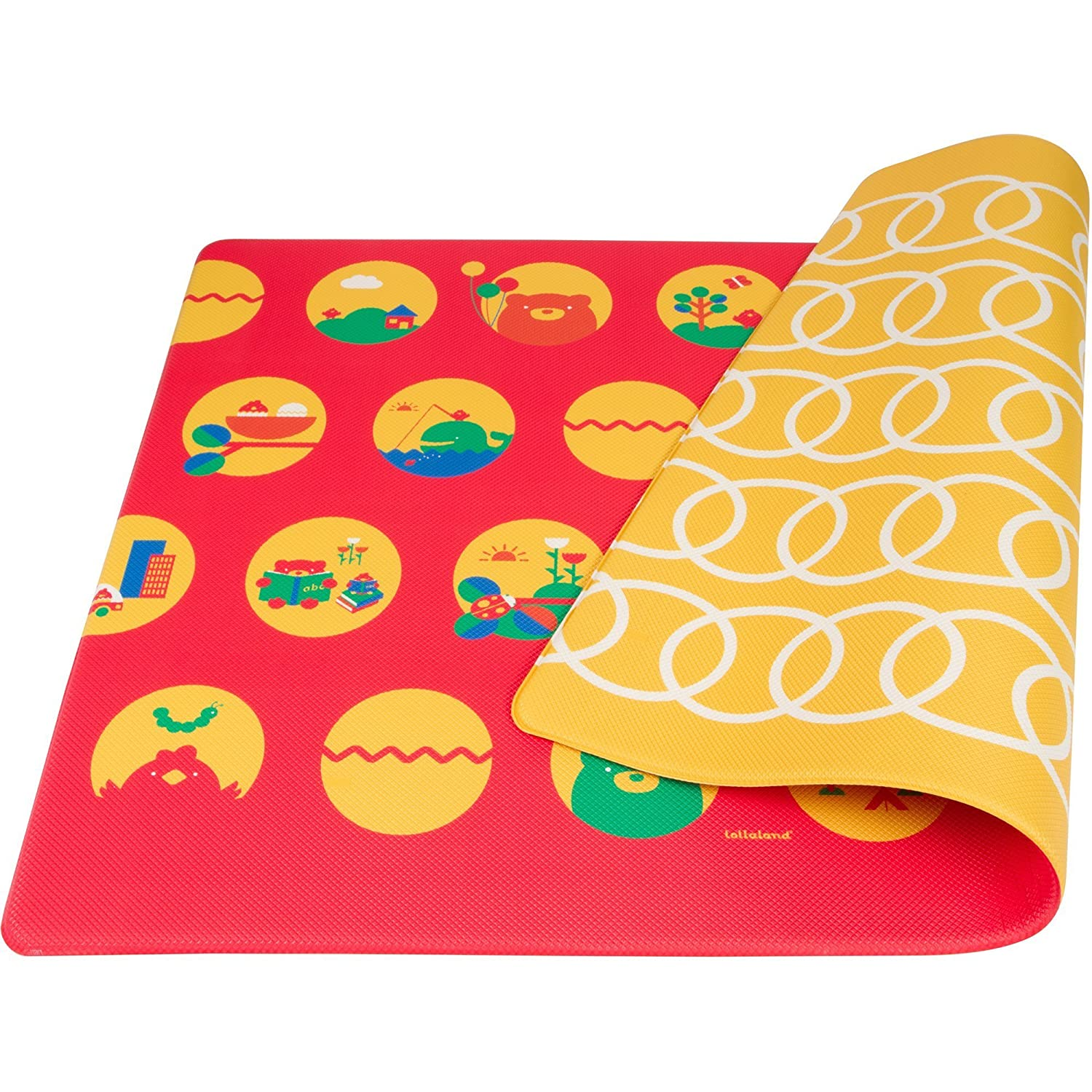 Lollaland Thick Baby Play Mat Stylish Floor Play Mats for Infants Babies Kids Toddlers Safe Baby Foam Playmat for Crawling and Playing