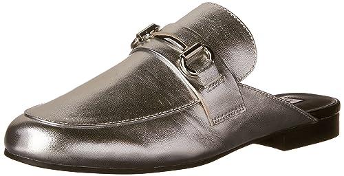 f17ce090bd1 Steve Madden Women's Kandi Loafer Flats, Silver, 6 M US: Amazon.ca ...