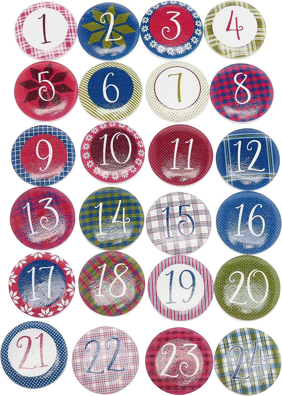 VBS AdventszahlenWales 24 St/ück Adventskalender Advent Kalender basteln Zahlen