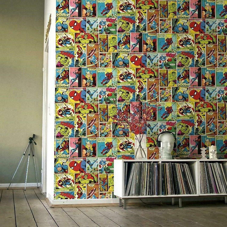 Marvel Comic Strip Wallpaper Multi Muriva 159501 Amazon Com