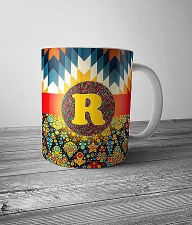 mugs alphabet designer ceramic coffee mugs amazon in