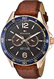 Tommy Hilfiger Brown 'Sophisticated Sport' Quartz Resin and Leather Casual Men's Watch