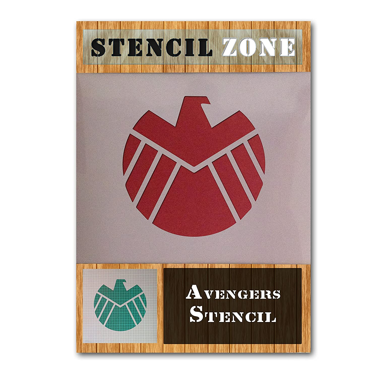 Avengers Character Logo Sign Mylar Airbrush Painting Wall Art Crafts Stencil (A1 Size Stencil - Xlarge) STENCIL ZONE