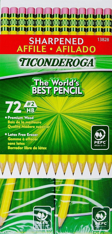 Ticonderoga Sharpened   2 HB Premium legno latex-free Eraser, Eraser, Eraser, 72 Pencils   Materiali selezionati    Vinto altamente stimato e ampiamente fidato in patria e all'estero    Lasciare Che I Nostri Beni Vanno Al Mondo    Offerta Speciale    Buona Reputazion 051d89