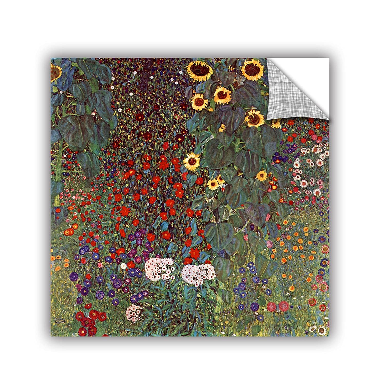 ArtWall Gustav Klimts Sunflower Appeelz Removable Graphic Wall Art 14 by 14