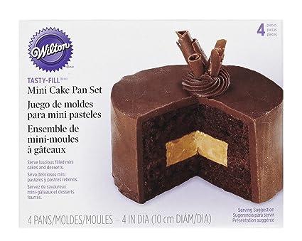 Wilton Moldes para Mini-bizcochos Rellenos, 2 Piezas, Acero, centimeters