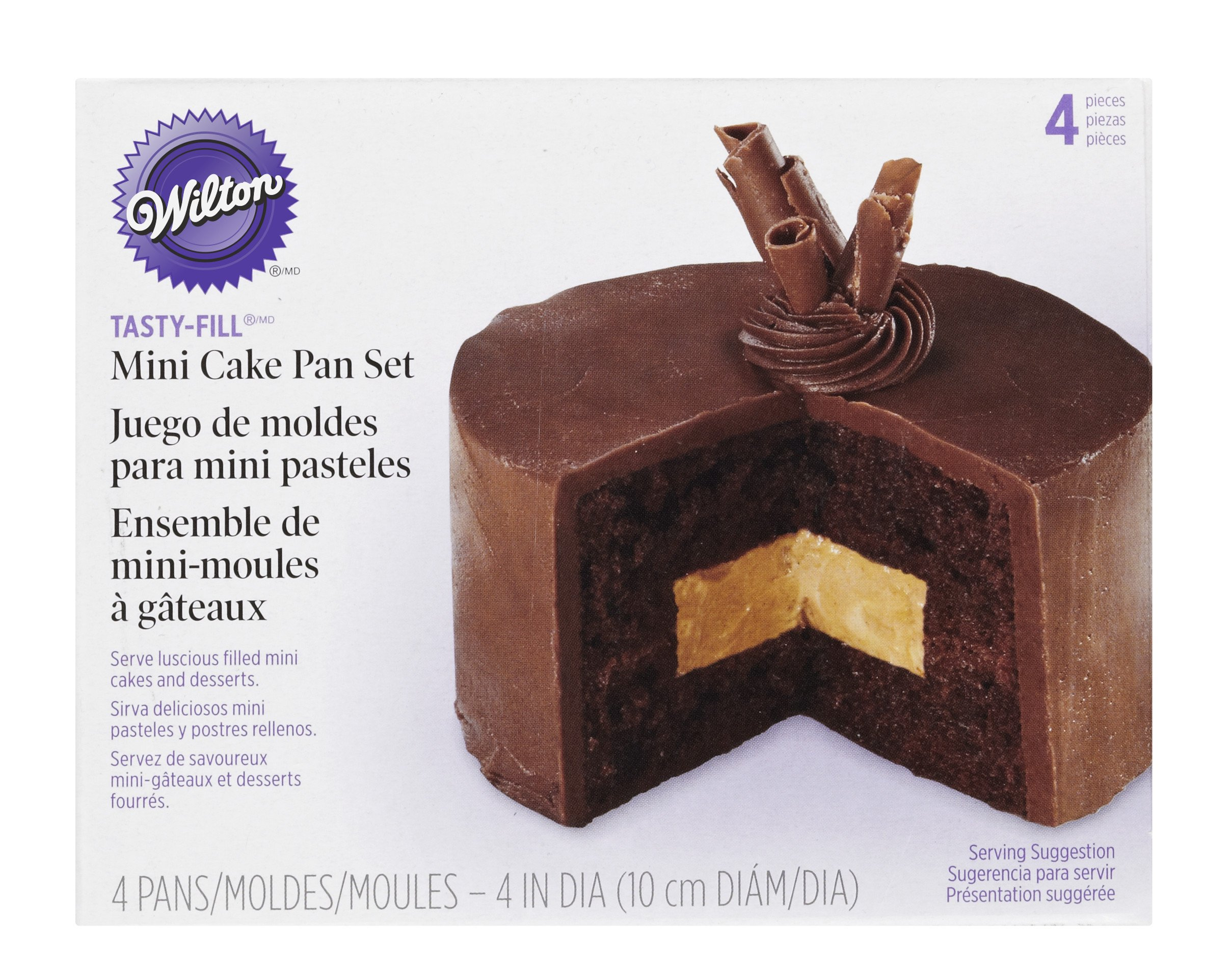 Wilton Tasty-Fill Mini Cake Pans Set, 4-Piece