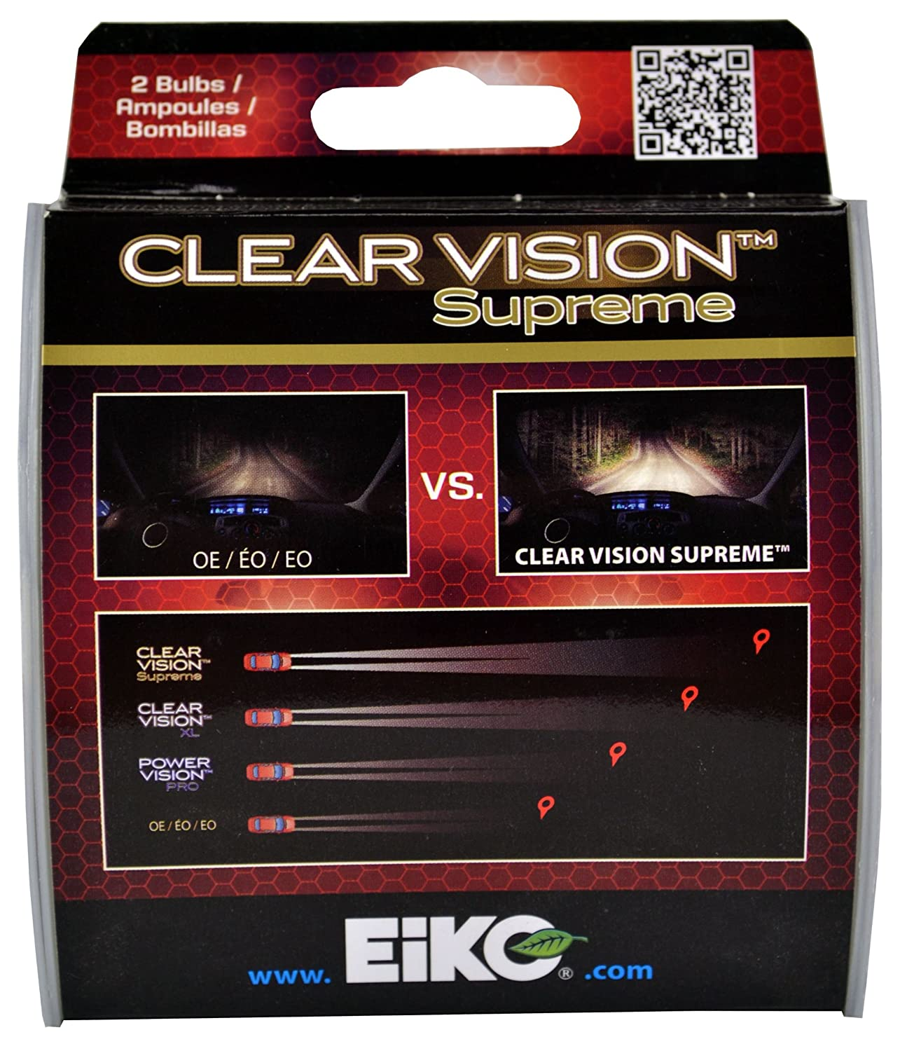 Amazon.com: EiKO H1042CVSU2 H10/9145 Clear Vision PRO Halogen Bulb -2 Pk: Automotive