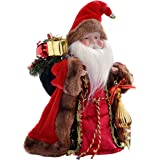 WeRChristmas Father Christmas Tree Top Topper Decoration, 30 cm - Red/Gold