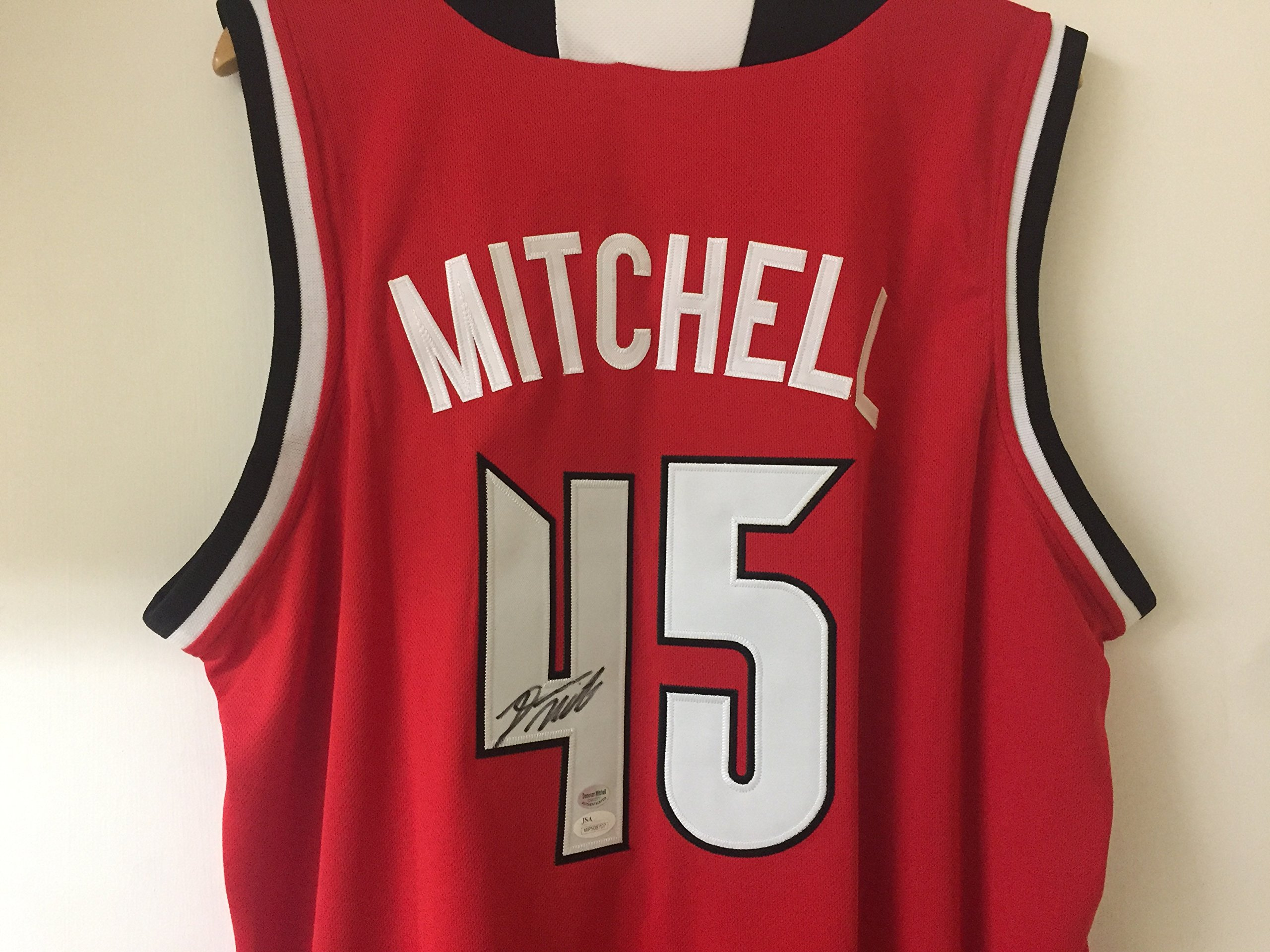Donovan Mitchell Utah Autographed Louisville red Basketball Signed Jersey JSA Witnessed Certified NBA NCAA Jersey by Donovan Mitchell