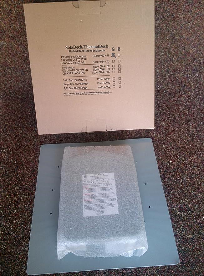 SolarDeck chapados en combinador/Cable Entrada Caja para techos de ...