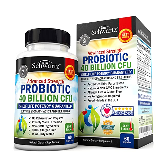 Probiotic 40 Billion CFU. Guaranteed Potency u...