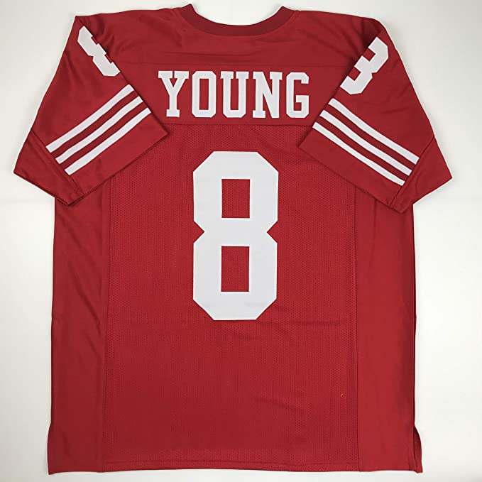 8a3533312 Amazon.com  Unsigned Steve Young San Francisco Red Custom Stitched Football  Jersey Size Men s XL New No Brands Logos  Sports Collectibles