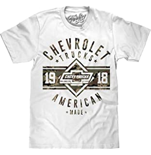 32e64076176bb6 Tee Luv Chevrolet Trucks T-Shirt -  Since 1918  American Made Chevy Truck