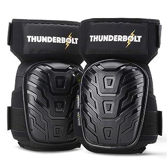 2x Heavy Duty Knee Pads Pro Gel Kneepads Protectors Safety Work Wear Guard Black