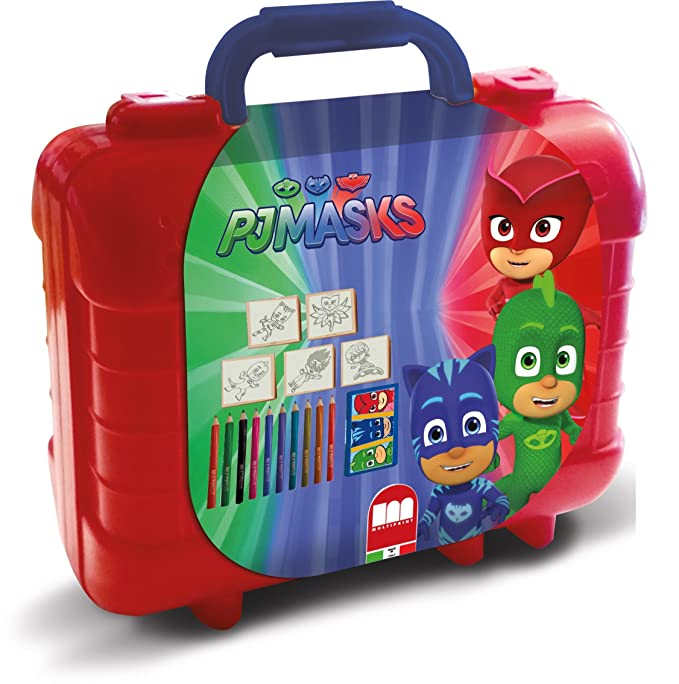Multiprint - 42954 - Tampons À Imprimer - Travel Set + 5 Tampons - Pjmasks
