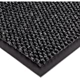 "Notrax 136 Polynib Entrance Mat, for Lobbies and Indoor Entranceways, 3' Width x 4' Length x 1/4"" Thickness, Charcoal"