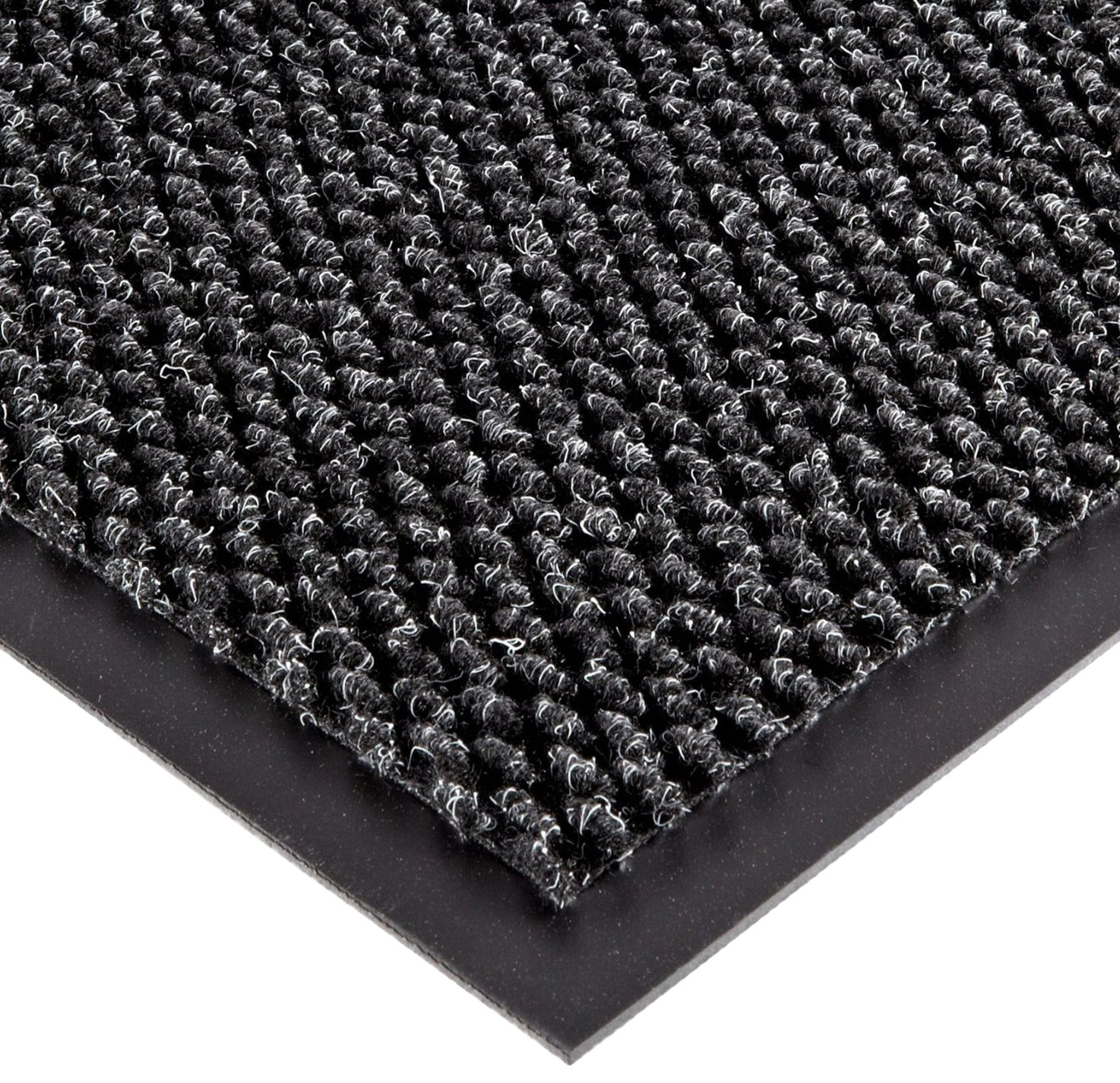 Notrax 136 Polynib Entrance Mat, for Lobbies and Indoor Entranceways, 3' Width x 4' Length x 1/4'' Thickness, Charcoal