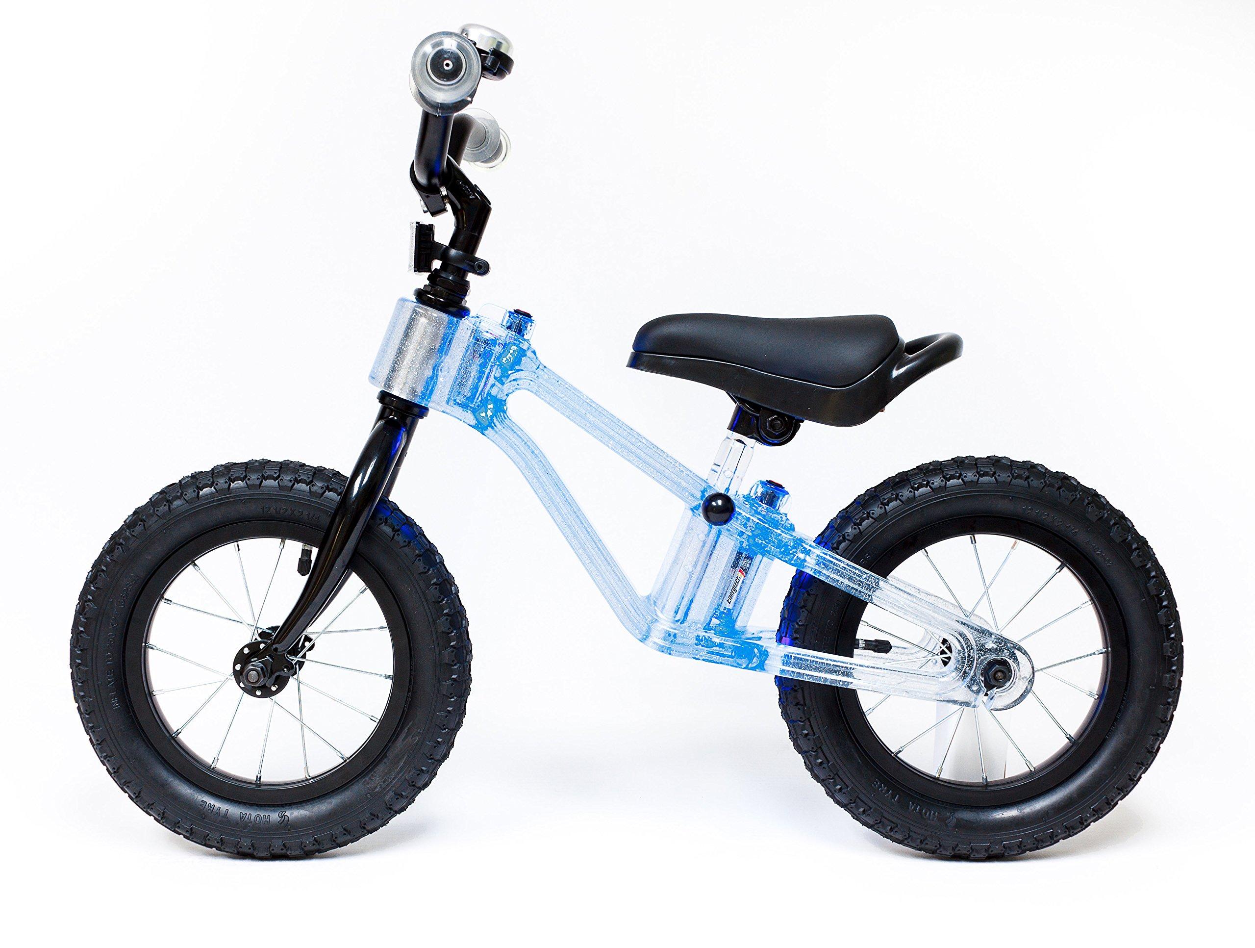 """Phantom Frames Blinky 12"""" Balance Bike – BLUE LED (FLASHING)"""
