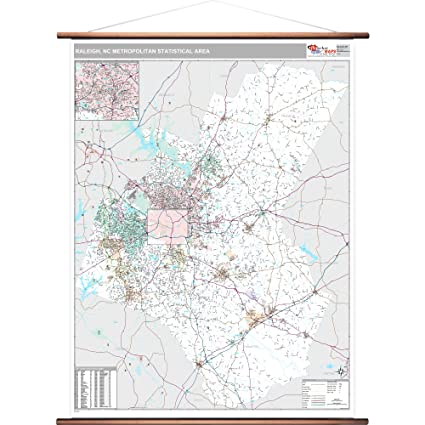 Amazon.com: MarketMAPS Raleigh, NC Metro Area Wall Map ...