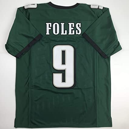Amazon Nick logos Stitched Foles Custom Philadelphia Jersey Football New Sports com Green No Men's Xl Collectibles Brands Unsigned Size