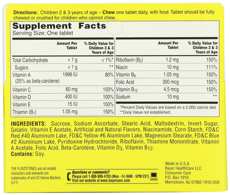 Flintstones vitamins nutrition facts