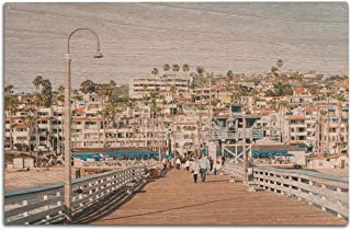 product image for Lantern Press The Pier in San Clemente, Orange County, California 9008659 (10x15 Wood Wall Sign, Wall Decor Ready to Hang)